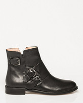 Le Château Leather Round Toe Ankle Boot