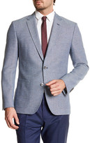 HUGO BOSS Janson Notch Lapel Trim Fit Wool Sport Coat