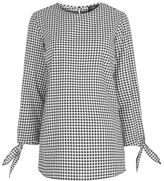 Topshop Maternity gingham tie sleeve blouse