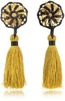 DSQUARED2 Samurai Gold Tassel Clip Earrings