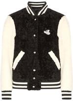 Marc Jacobs Appliquéd Shearling Bomber Jacket - Ivory