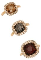 Forever 21 FOREVER 21+ Faux Gem Stone Ring Set