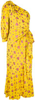 Gucci floral embroidered long dress - women - Silk/Polyester/Acetate - 38