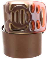 Marni Leather Buckle Belt