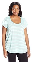 Calvin Klein Women's Plus Size Cut Out Back Relaxed Tee
