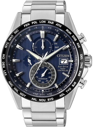 Citizen Men's Eco-Drive Radio Controlled World Time Chronograph Watch, 40mm
