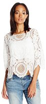 Tracy Reese Women's 3/4 Lace Blouse