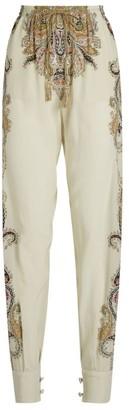 Etro Silk Loretta Cuffed Trousers