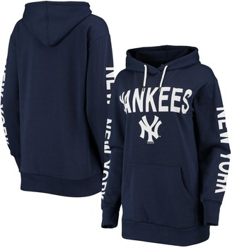 New York Yankees Women's G-III 4Her by Carl Banks Navy Extra Inning Colorblock Pullover Hoodie