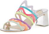 Sophia Webster Mila Mid-Heel Zigzag Mule Sandal