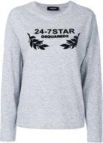DSQUARED2 24-7 star sweatshirt - women - Cotton/Viscose - XXS