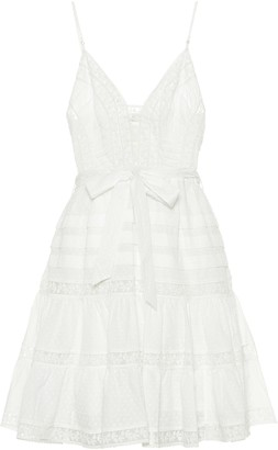 Zimmermann Honour embroidered cotton minidress