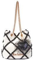 Betsey Johnson Cross Your Heart Drawstring Bag