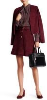 Kate Spade Belted Genuine Suede A-Line Skirt
