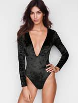 Victoria's Secret Victorias Secret Crushed Velvet Plunge Bodysuit