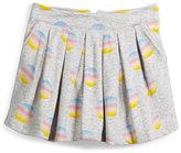 Little Marc Jacobs Pleated Fleece Polka-Dot Skirt, Gray, Size 4-5
