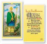 Gifts by Lulee St Saint Patrick OLD Irish Benediction Holy Card Blessed By His Holiness Pope Francis