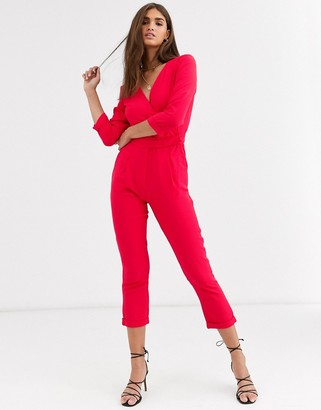 Vila 3/4 sleeve jumpsuit