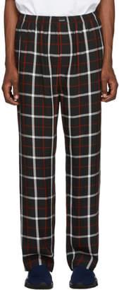 Balenciaga Black and White Check Fluid Pyjama Trousers
