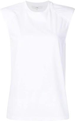 Tibi sleeveless padded shoulder T-shirt