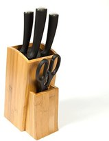 Woodluv Universal Bamboo Knife Block Rest Rack Stand Organiser