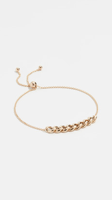 Zoë Chicco 14k Gold Curb Chain Station Bracelet