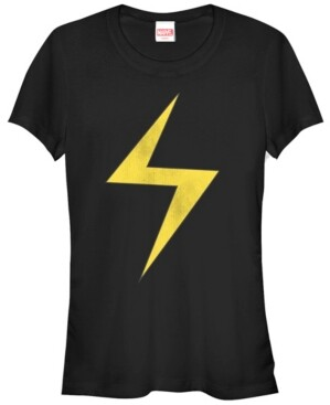 Fifth Sun Marvel Women's Ms. Marvel Women's Lightning Bolt Icon Short Sleeve Tee Shirt