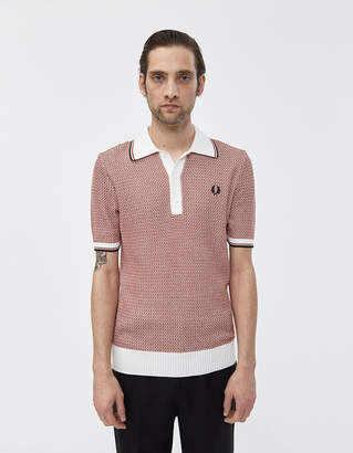 Fred Perry Two Color Textured Polo Shirt