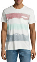 Sol Angeles Brushstroke Flag Short-Sleeve T-Shirt, White