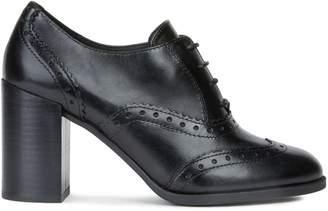Geox Jacy Heeled Leather Brogues