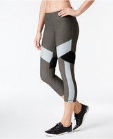 Calvin Klein Colorblocked Cropped Water-Repellent Leggings