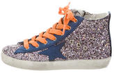 Golden Goose Deluxe Brand Girls' Glitter High-Top Sneakers w/ Tags