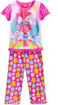 Trolls by DreamWorks 2-Pc. Poppy, Satin & Chenille Pajama Set, Toddler Girls (2T-5T)