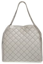 Stella McCartney 'Small Falabella' Quilted Faux Leather Tote - Grey