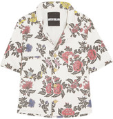 House of Holland Floral-print Denim Shirt - White