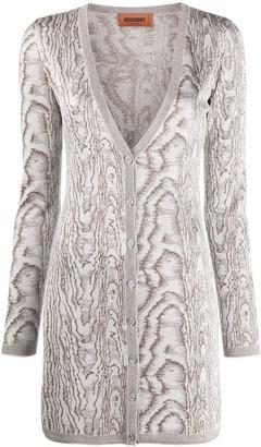 Missoni Long Intarsia Knit Cardigan