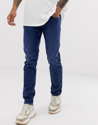 Replay Anbass stretch slim fit jeans in dark wash