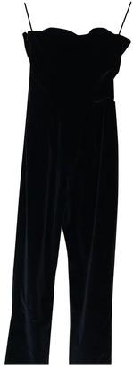 Isa Arfen Black Cotton Jumpsuit for Women