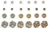 Charlotte Russe Embellished Sphere Stud Earrings - 12 Pack