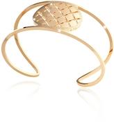 Rebecca Melrose Yellow Gold Over Bronze Cuff Bracelet