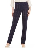 Investments the PARK AVE fit Pull-On Modern Straight Leg Windowpane Pants