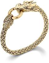 John Hardy Naga 18K Yellow Gold Dragon Bracelet With Gold Ring