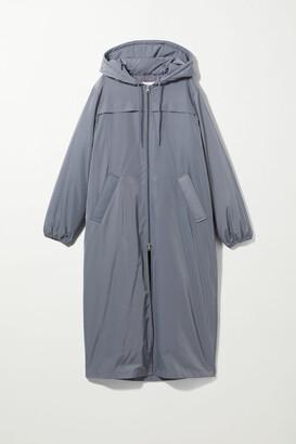 Weekday May Long Sporty Jacket - Grey