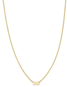 Zoë Chicco Itty Bitty 14K Yellow Gold Infinity Pendant Necklace, 16