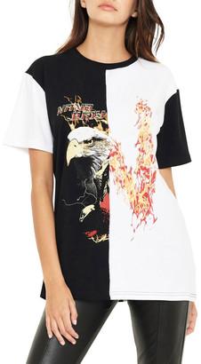 nANA jUDY Reason Contrast Split Vintage Inspired T-Shirt
