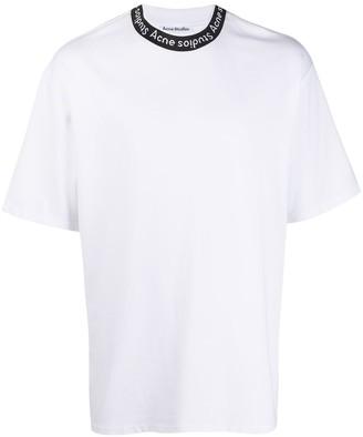 Acne Studios logo neck T-shirt