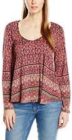 New Look Women's Marie Eyelet Neck Gypsy Long Sleeve Top,Size