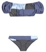 Lisa Marie Fernandez Leandra Patchwork Off-the-shoulder Bikini