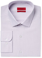 Alfani Men's Fitted Performance Purple Dobby Striped Dress Shirt, Only at Macy's