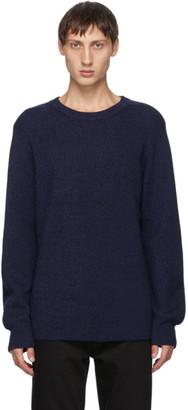 Acne Studios Navy Melange Ribbed Sweater